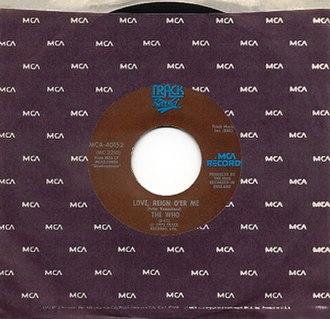 Love, Reign o'er Me - Image: Love, Reign o'er Me cover