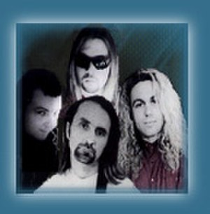 Mad at the World - Band circa 1993. Clockwise from left, Randy Rose, Ben Jacobs, Mike Link, Roger Rose.