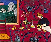 Henri Matisse, The Dessert: Harmony in Red, 1908, Hermitage Museum, St. Petersburg, Russia