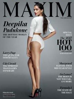 Maxim (India) - Deepika Padukone on the cover of Maxim 2017.