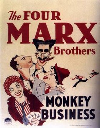 Monkey Business (1931 film) - theatrical release poster