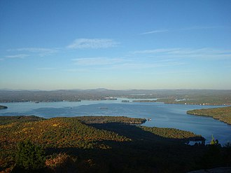 Lake Winnipesaukee - Lake Winnipesaukee from summit of Mt. Major