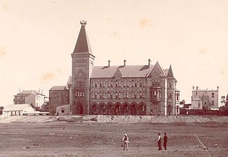 Newington College - Founders Wing, incomplete in the 1890s