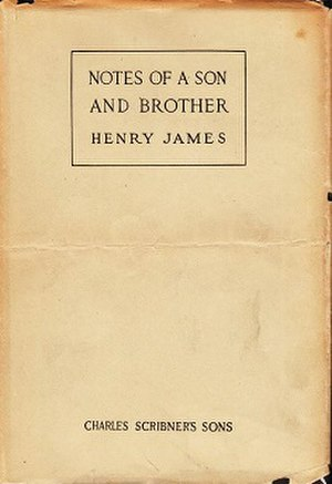 Notes of a Son and Brother - First edition (US)