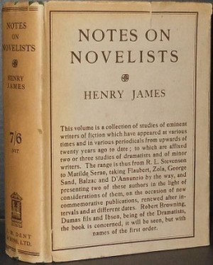 Notes on Novelists - First edition (US)