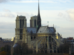 The cathedral from the dining room of La Tour d'Argent.