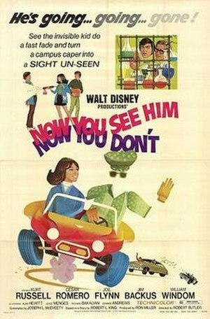 Now You See Him, Now You Don't - Theatrical release poster