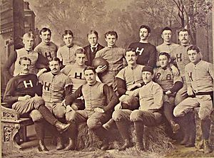 Harvard rugby - Pre American Football era team photograph.