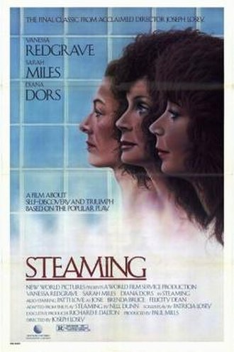 Steaming (film) - Image: Poster of the movie Steaming (1985 film)