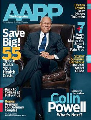 AARP The Magazine - July/August 2006 cover featuring Colin Powell