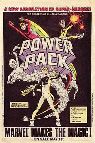 Power Pack - Advertisement for the debut of the team's comic book (1984)