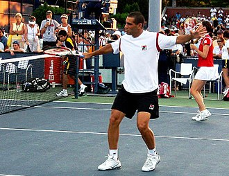 Andy Ram - Ram with his mixed doubles partner at the US Open, 2007.