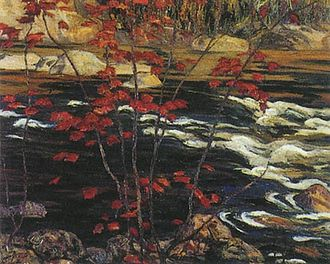 Group of Seven (artists) - Red Maple, 1914, by A.Y. Jackson