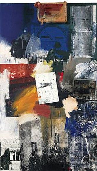 Postmodern art - Robert Rauschenberg Untitled Combine, 1963
