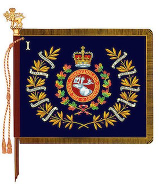 Royal Newfoundland Regiment - The regimental colour of 1st Battalion, Royal Newfoundland Regiment