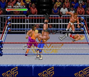 WWF Royal Rumble (1993 video game) - Royal Rumble match (SNES version)