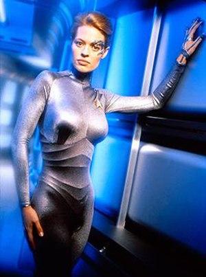 Seven of Nine - Promotional image of Jeri Ryan as Seven of Nine in Star Trek: Voyager