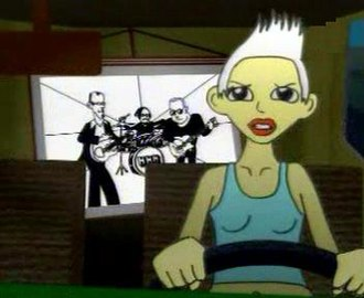 "Shut Your Mouth (Garbage song) - Garbage in the first version of the animated ""Shut Your Mouth"" video."