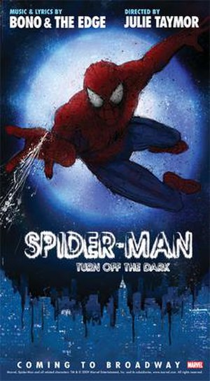 Spider-Man in other media - Spider-Man: Turn Off the Dark promotional poster.
