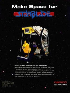 Starblade - Arcade flyer
