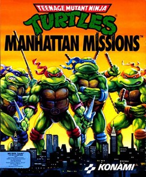 Teenage Mutant Ninja Turtles: Manhattan Missions - Cover art