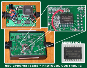 IEBus - The µPD72042BGT as mounted on the PIE TOY-AUX