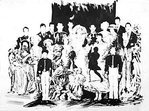"""Darren Coffield - The Triumph of David, ink on paper, 30"""" x 24"""" (762mm x 610mm), 1996."""