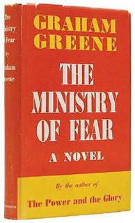 <i>The Ministry of Fear</i> novel by Graham Greene