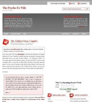 A screenshot of the ThePsychoExWife.com Web site