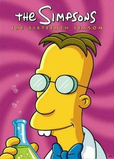 <i>The Simpsons</i> (season 16) season of television series