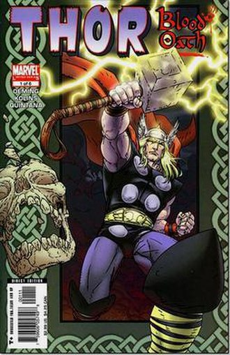 Thor: Blood Oath - Cover of the 1st issue by artist Scott Kolins.
