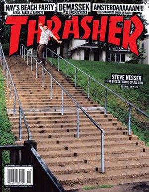 Thrasher (magazine) - November 2007 cover with Steve Nesser