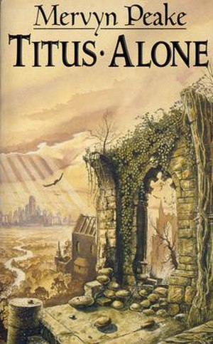Titus Alone - Mark Robertson's cover illustration for the Mandarin paperback edition