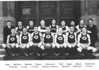 1919–20 Chicago Maroons men's basketball team - Image: University of Chicago Basketball Team, Intercollegiate Champions, 1919 20