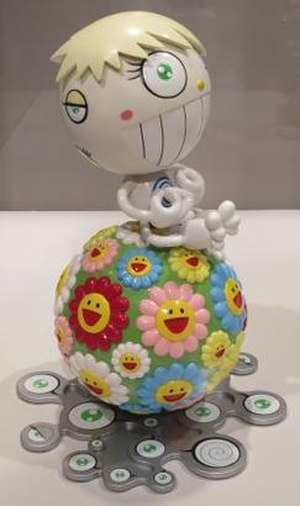Takashi Murakami - Cosmos Ball by Takashi Murakami, molded plastic, 2000, Honolulu Museum of Art