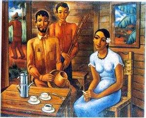 Cuban art - ¿Quiere Mas Café Don Nicolas?, Antonio Gattorno, ca. 1938.