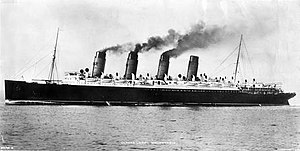 Blue Riband - Cunard's Mauretania, the most successful Blue Riband winner, held from 1909 to 1929.