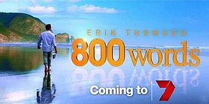 800 Words - Promotional title card for 800 Words.