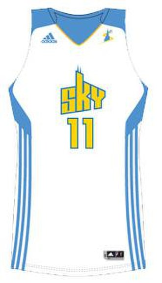 Chicago Sky - 2011 home uniform, manufactured by Adidas