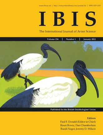 Ibis (journal) - Image: Cover of Ibis