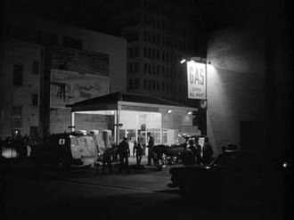 Crime Wave (1954 film) - Location shooting at downtown Los Angeles' Wall Street in Crime Wave.