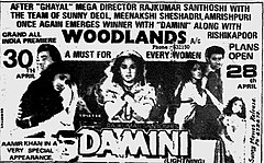 <i>Damini</i> 1993 film by Rajkumar Santoshi