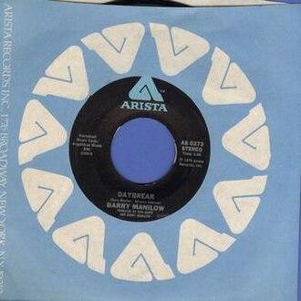 Daybreak (Barry Manilow song) - Image: Daybreak Barry Manilow