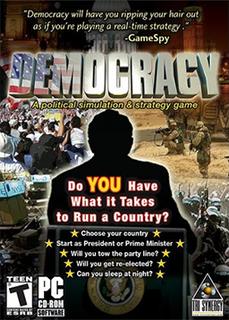 <i>Democracy</i> (video game) government simulation game