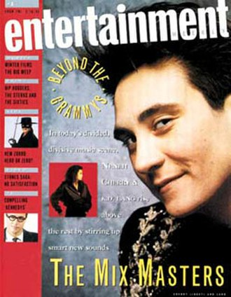 Entertainment Weekly - Volume 1, Number 1 (February 16, 1990), cover featuring singer k.d. lang
