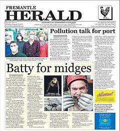 Fremantle Herald Front Page August 2013.jpg