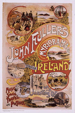Moving panorama - Poster for Fuller's Myriorama show about Ireland