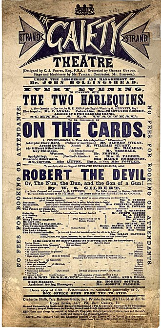 Robert the Devil (Gilbert) - Programme for 1869 production