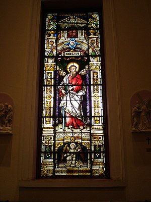 St. Peter the Apostle Church - Image: Glass stpaul