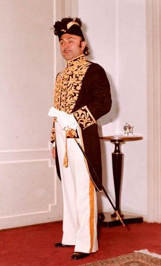 Heydar Ghiai - Heydar Ghiaï-Chamlou as Imperial aide-de-camp